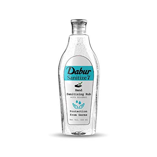 Dabur Sanitize γ - Hand Sanitizing Rub |70% (V/V) Alocohol Based Sanitizer - 450 ml