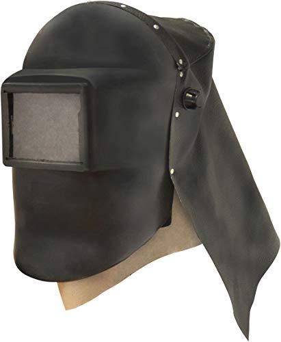 Güde 41115 Sandstrahlhaube (Kopf- und Nackenschutz, Haube aus schlagfestem Kunststoff, 93 x 118 mm Schutzglass)