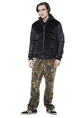 Members Only Men's Velvet Bomber Jacket Black