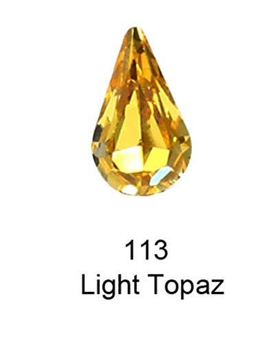 Tear Drop pointBack Crystal Strass strass Pierre Verre Strass pour vêtements nail art Décorations pierres et cristaux, 113,10 6mm30pcs