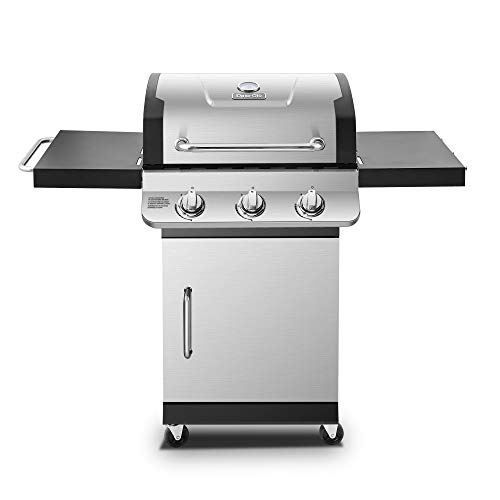 Dyna-Glo DGP397SNN-D Premier 3 Burner Natural Gas Grill, Stainless Holders Wipe