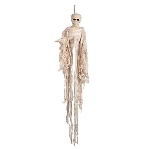 Boland- Decorazione Mummia Scheletro, Bianco, 74537
