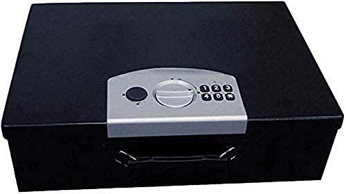 Beveiliging Veilige draagbare elektronische beveiligingscode Spaarpot Zwart Klein Vintage draagbare kluis met onzichtbare sleutel (maat: 45 * 13 * 32)