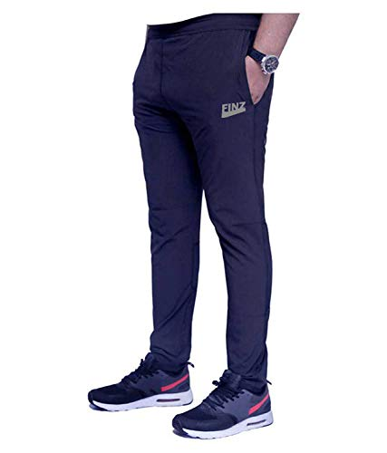 Finz Men's Slim Fit Trackpant (CONTRAST-NAVY3-30_Navy Blue_30)