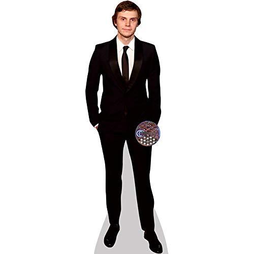 Celebrity Cutouts Evan Peters (Black Suit) Pappaufsteller Mini