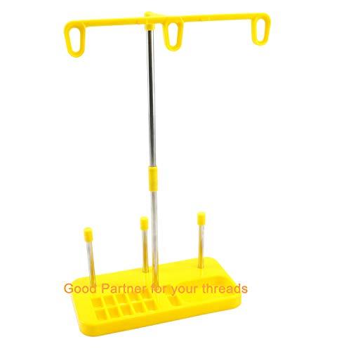 Lichtgewicht draadhouder - 3 Spoelenhouder voor Huiselijk Borduren en Naaimachines - Drie Kleuren voor Keuzes - Geel