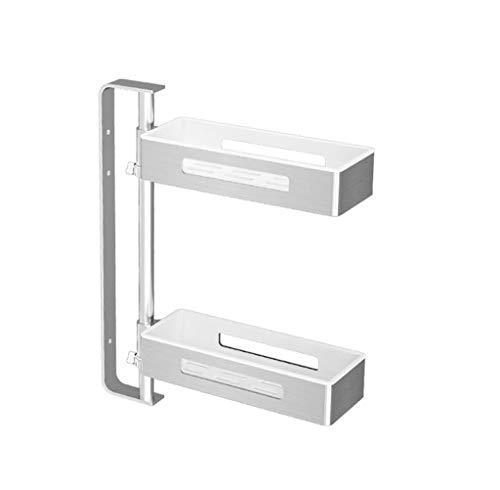 Égouttoir 2-stöckige Wandregale, drehbare Höhenverstellung, Küche/Bad, Aluminiumrost