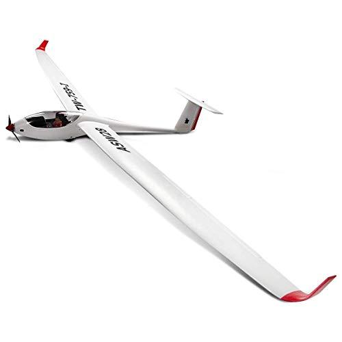 WXXW PNP Segelflugmodell 2,4 G 6-Kanal, Segelflugzeug Ferngesteuertes Modellflugzeug, Motorsegler aus EPO, Elektro Flugzeug Outdoor, Segelflugzeug weiß, Freiflugmodell Spannweite 260 cm