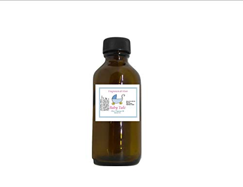 BABY TALC FRAGRANCE OIL - Soap Making| Candle Making| For Use with Diffusers| Add to Bath & Body Products| Home and Office Scents| 2 oz amber glass bottle (Baby Oil, 2 oz)