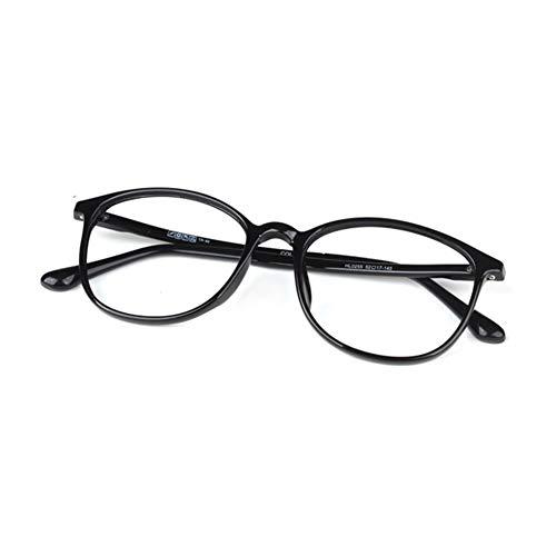 GLASSES Lesebrille, Ultraleichte Brille TR90, Hochauflösende Brille, Strahlenschutzbrille, Vollformat-Lesebrille (schwarz, rot)