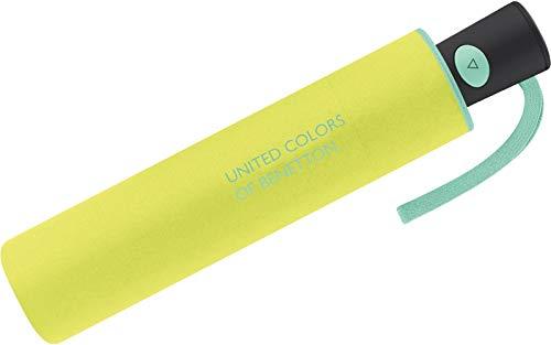 Benetton Regenschirm Taschenschirm Automatik Schirm Mini AC (Acid Green)