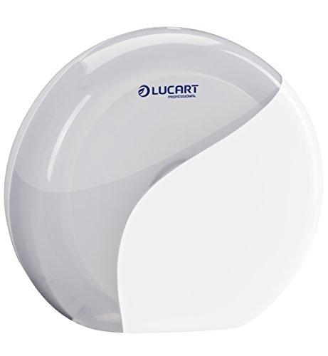 Lucart Professional 892326Dispositivo Dispenser di Carta igienica, Maxi Jumbo, Bianco Pack di 6)
