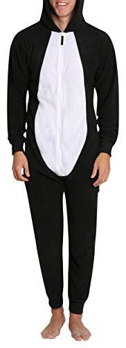Adult Mens Novelty Halloween Costume Fleece Pajama Jammies Onesie Onsie Penguin S