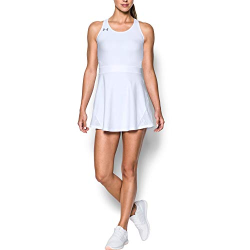 Under Armour Women's Center Court Dress , White (100)/Graphite , Large