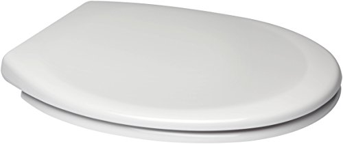 Euroshowers White One Seat Soft Close Toilet Seat with Top Fix Blind Hole Fittings and ONE Button Quick Release