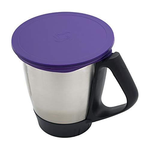 Wundermix Silikon-Deckel für Thermomix TM6 / TM5 / TM31 | Dehnbarer Frischhalte-Deckel BPA-frei & wiederverwendbar | perfekt für die Aufbewahrung von Lebensmitteln | Lila