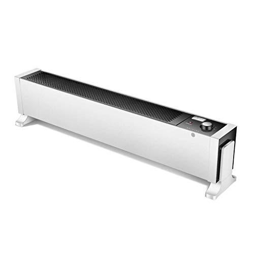 LIPENLI Calentador de zócalo calentador en la base del radiador de calefacción eléctrica inteligente 1800W inteligente piso móvil Calentador por convección a distancia for Baño Dormitorio Oficina Gara