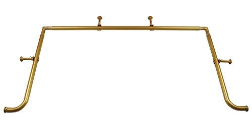 MERIVILLE 1-Inch Diameter Bay Window Curtain Rod Set for Bayview Windows, Gold Finish