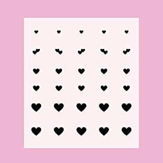 Hearts Nail Art Stickers (Black)