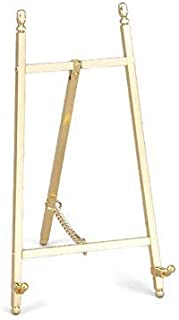 Art Display Easels, Decorative Brass or Nickel Plated, 7 Inches High (Brass)
