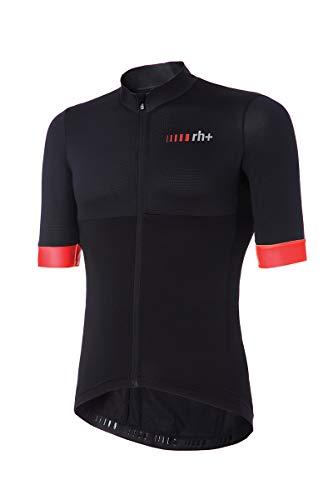 zerorh+ Logo, Bike Jersey para Hombre, Hombre, ECU0417 930L, Negro/Rojo, L