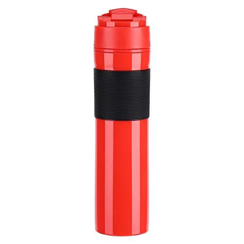 Kaffeepresse Flasche - VIFER 350ML Protable Tee Kaffeemaschine Flasche Reisekaffeetasse Schwarz/Rot 1PC(rot)