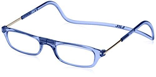[クリックリーダー] 老眼鏡 Clic Readers メンズ ブルー +1.00-(FREEサイズ)
