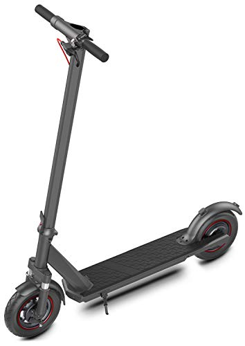 """Electric Kick Scooter for Adults 19 mph Speed 10"""" Solid Tires & 25 Miles Long Range Battery - 350w Powerful Motor Foldable & Portable Commuting Scooter with Double Braking System"""