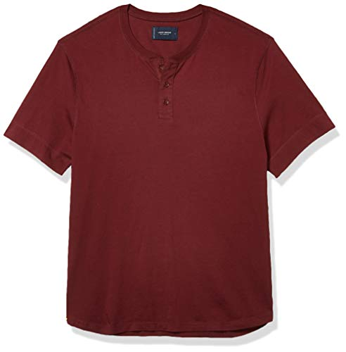 Lucky Brand Men's Short Sleeve Henley Shirt, Chocolate Truffle, L