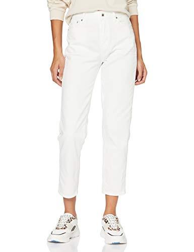 G-STAR RAW Damen 3301 High 90's Ankle Straight Jeans, Weiß (3D Milk C050-B144), W28/L32 (Herstellergröße: 28W/ 32L)