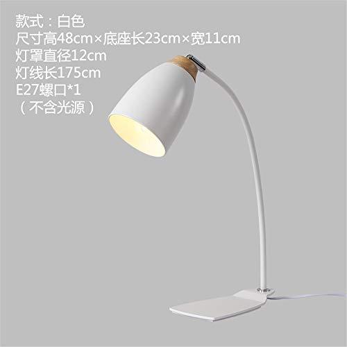 YU-K Creatieve persoonlijkheid studenten retro minimalistische lamp bureaulamp woonkamer slaapkamer bed metaal moderne lampen smeedijzer 23 x 48 cm