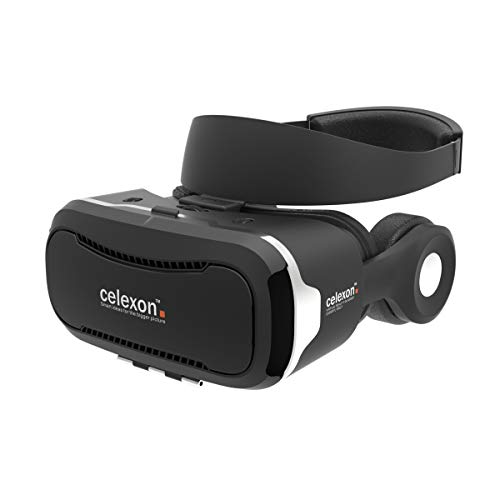 Gafas VR celexon Expert - Gafas 3D realidad virtual VRG 3 con auriculares, Smartphone 3,5' a 5,7'