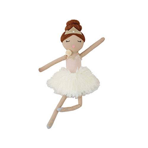 """Mud Pie Ballerina Doll, Brunette, 18"""" x 5 1/2"""""""