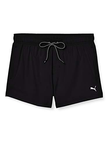 PUMA Men Short Length Swim Shorts Bañador, Negro (Black), S para Hombre