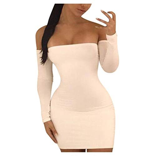 Dress 2021 Women's Sexy White Dress Tight Slim Elegant Hollow out Flat Shouders Party Dress Dresses For Women Ropa Mujer