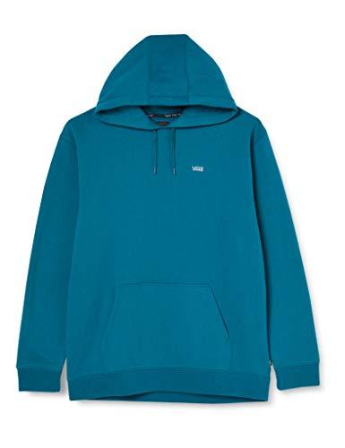 Vans Basic Pullover Fleece Sudadera con Capucha, Azul Marroquí, L para Hombre