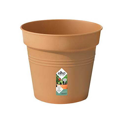 pot de fleurs - green basics pot de culture 19cm terre cuite doux - 19 x 19 x 17.5 cm