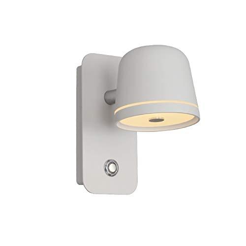 JGHH Lámpara de Pared Interior Aisilán LED Dormitorio de Noche Lámpara de Pared Regulable Sala de Estar Nordic Creative Reading Infinite Dimagen Interruptor de la Pared