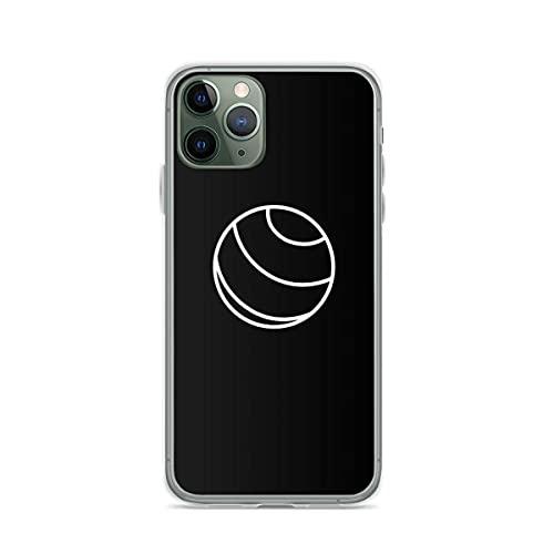 White Simple White Yoga Ball Exercise Pure Clear Cajas del Teléfono Cover iPhone 12/11 Pro MAX 12 Mini SE X/XS MAX XR 8 7 6 6s Plus Funda