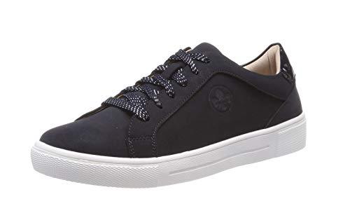 Rieker Damen N9110 Sneaker, Blau (Pazifik/Marine 14), 37 EU