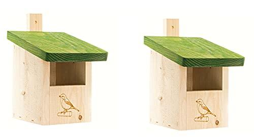 unzutreffend 2X Nistkasten-Vogelhaus-Meisenkasten-Nisthohle,aus Holz NISTKÄSTENSET