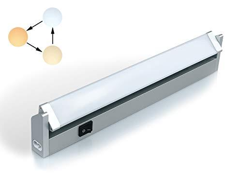 Faretto Luce Elettrica LED Sottopensile da 7W 350LM 3 Temperatura di Colore Regolabili con Interruttore Montaggio a Parete Lampada Girevole per Illuminazione Interna