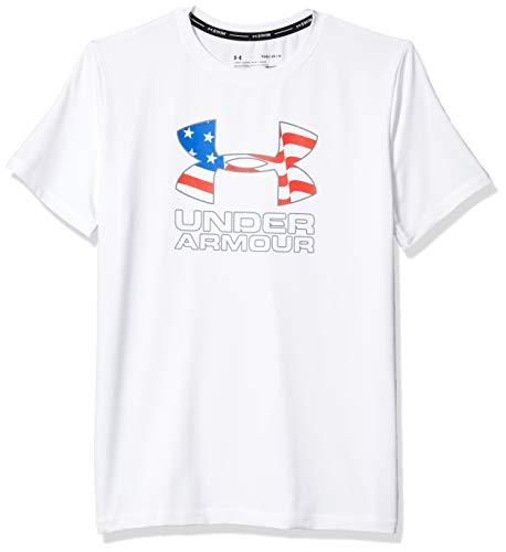 Under Armour UA Americana Big Logo Surf SHI Camisa de protección de Sarpullido, Blanco Sp201, M para Niños