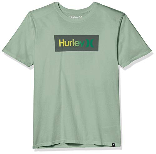 Hurley M Bnz One & Only Shaded S/S Camiseta, Hombre, Spruce Fog, L