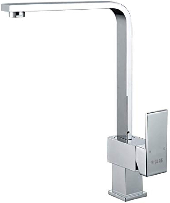 DYR Wasserhahn Kupfer Wasserhahn Platz Küchenspüle heien und kalten Wasserhahn Waschbecken Wasserhahn 360 Grad-Drehung