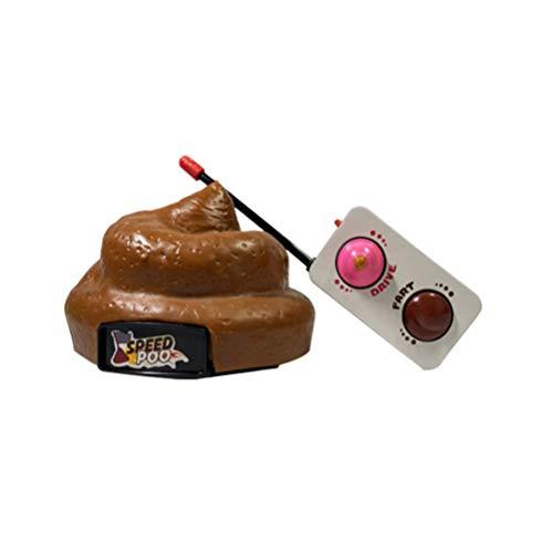 NUOBESTY Poop Auto Fernbedienung Kunststoff Simulation Hocker Spielzeug Scheiße Poop Auto mit Spinning Und Furz Aktion für Halloween April Narren Tag Party Kinder Kinderspielzeug