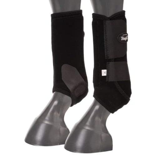 Extreme Vented  -Fronts Large Horse Protective Sport Boots Black