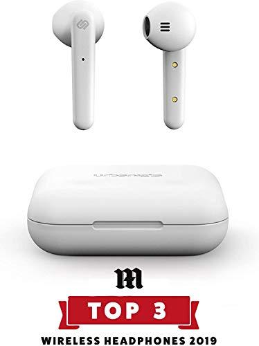 Urbanista Stockholm True Wireless Kopfhörer. 14H gesamt Akkulaufzeit. Bluetooth 5.0 inkl. Ladebox, Touch Bedienung und doppel Mikrofon Kopfhörer. Kompatibel mit iOS und Android - Weiß
