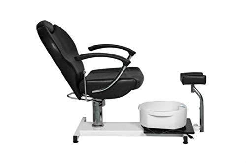 Salon Style Nail Pedicure Stool Pedicure Chair Pneumatic, Adjustable, Rolling Salon Furniture & Equipment Pedicure Station Foot Massage Chair (Black)