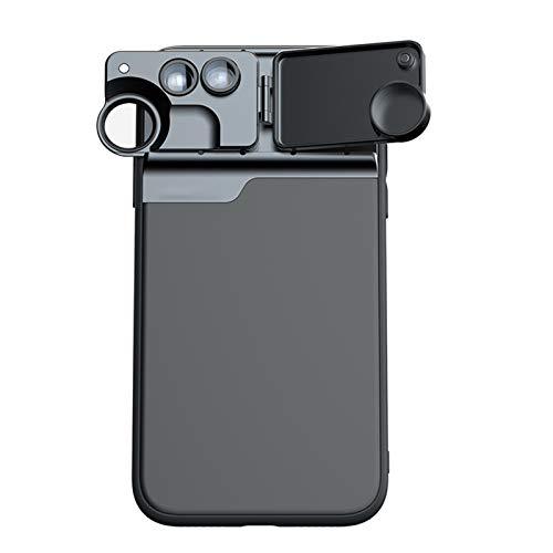 DAIM Caja del teléfono 3 en 1 Lente telefónica para iPhone 11 CPL Filtro / 10x / 20x Macro/Fisheye / 2X Teleobjetivo Lente para iPhone 11
